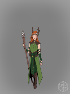 Keyleth from Vox Machina Origins Series III (Art by Olivia Samson)