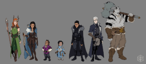 Vox Machina Origins Series III full (squad goals) character lineup (Art by Olivia Samson)